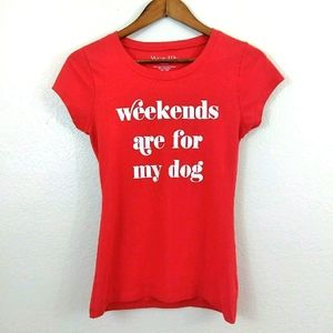 Wound Up Dog Weekend T-shirt Top